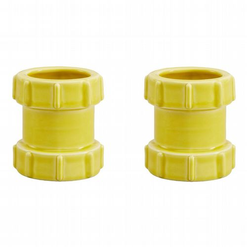 Pipe Egg Cups - Pack of 2 - Yellow
